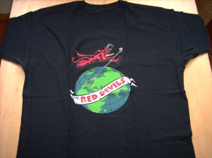 T shirts no fightin 39 the red devils lester butler for Planet hollywood t shirt